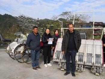 贵州开展2019年水稻插秧机质量调查工作